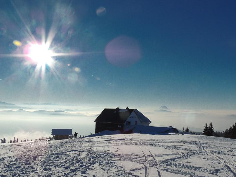 Winteransicht Schutzhaus Reisalpe