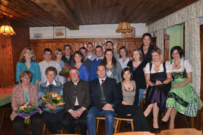 Gruppenfoto der Theatergruppe Kleinzell